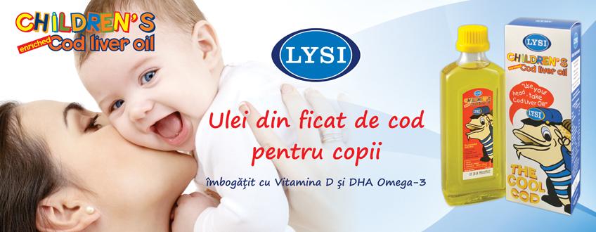 LYSI - Ulei din ficat de cod pentru copii