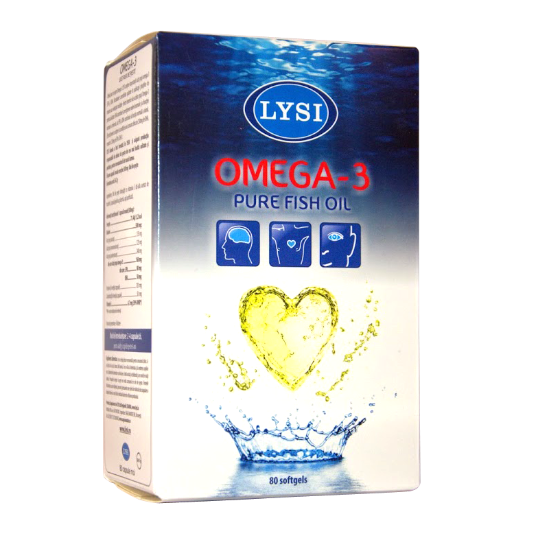 Omega-3  LYSI, 80 capsule