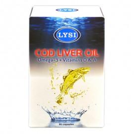 Ulei din ficat de cod LYSI, 80 capsule